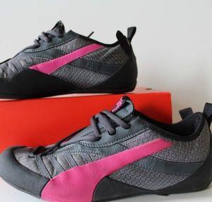 Black grey fluorescent pink puma's
